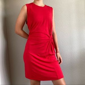 Red casual dress